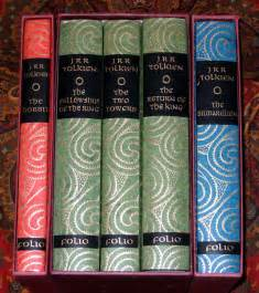 tolkien book store folio society set of 5 books