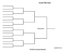 Knockout Draw Sheet Template by Free Printable 16 Team Tournament Bracket