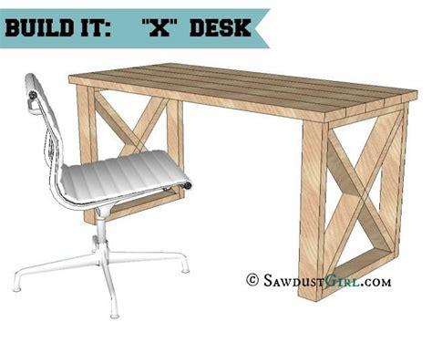 diy office desk plans x leg office desk sawdust 174