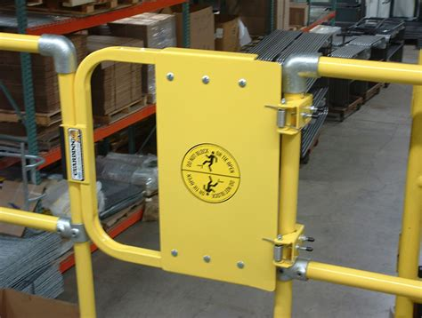 safety swing gates industrial self closing industrial safety gate guarddog bluewater