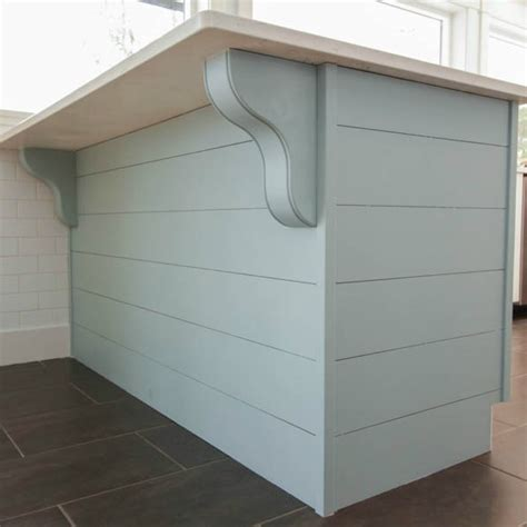 shiplap under bar a little more kitchen drama diy planked peninsula with
