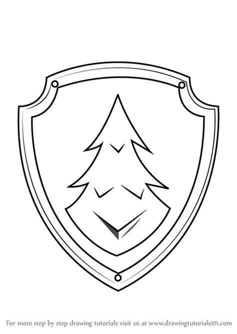 paw patrol coloring pages everest badge learn how to draw everest badge from paw patrol paw