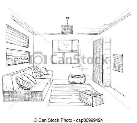 wohnzimmer zeichnen wohnzimmer zeichnen sketch draw perspektivisches