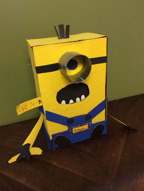 how to make a minion valentines day box minion s day card box shoebox paper foam