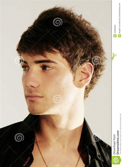 boys italian hair cuts handsome young boy hair style oper shirt stock photo