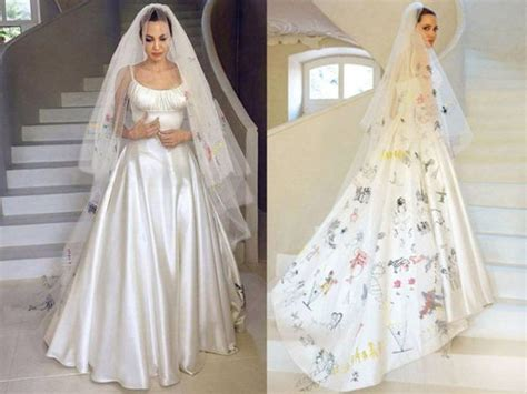 An Unconventional Bride   Angelina Jolie?s Wedding Dress