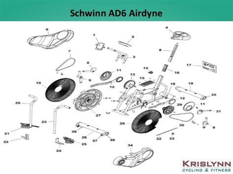 schwinn airdyne parts diagram best schwinn bike parts