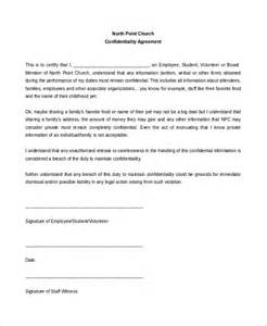 statement of confidentiality template 11 church confidentiality agreement templates free