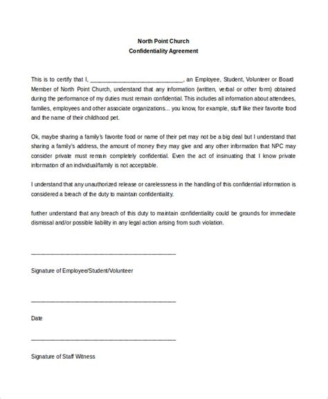 confidentiality statement template staff confidentiality agreement employee confidentiality