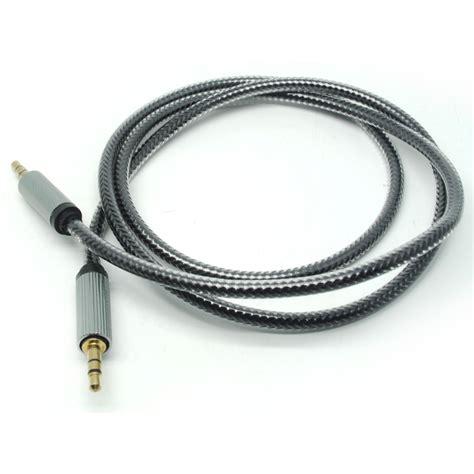 Kabel Aux 35mm To 1 Meter kabel aux 3 5mm hifi 1 meter black silver