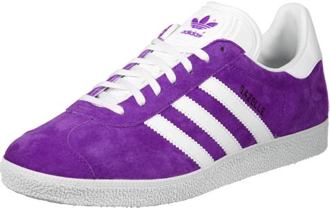 adidas gazelle shoes purple white