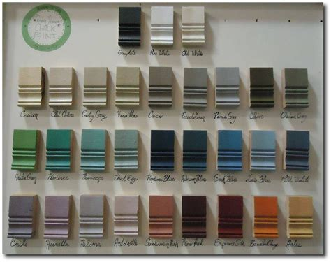 sloan paint color chart