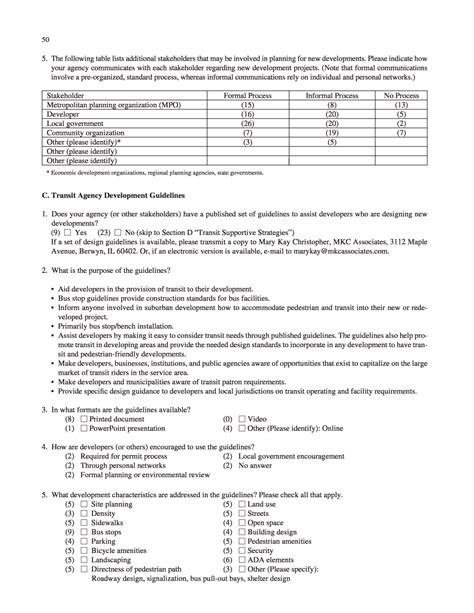 Landscape Architecture Questionnaire Appendix A Survey Questionnaire Transit Service In