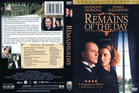 film one day dvd the remains of the day 1993 se r1 movie dvd cd label