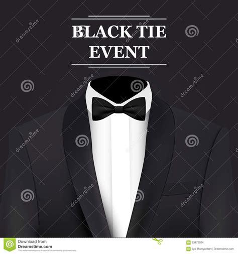 hair do for black tie events carta dell invito di evento dello smoking illustrazione