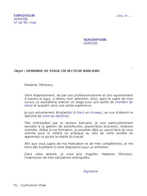 Lettre De Motivation Pour La Banque Populaire Maroc Demande Stage Secteur Bancaire