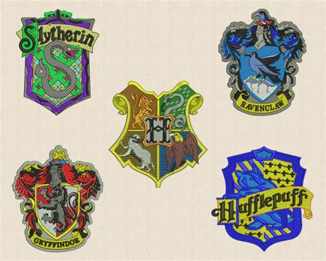 harry potter embroidery designs 5 harry potter emblems embroidery design 4 sizes by embroid4u