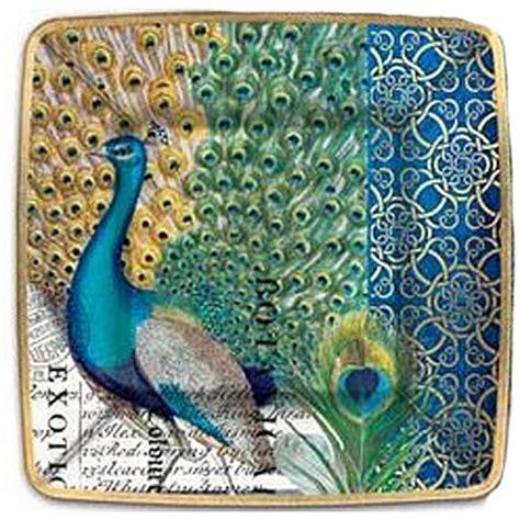 michel design works peacock paper plates peacock panache
