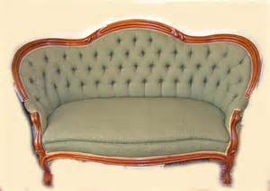 Antique Settee For Sale antique rococo revival walnut finger roll green dupioni