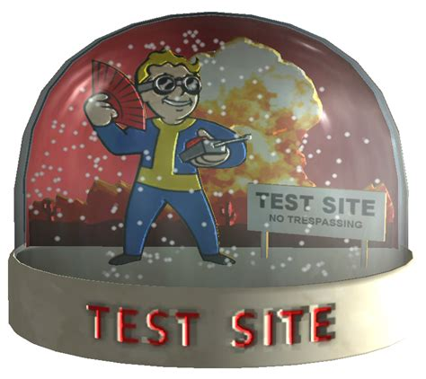 test site snow globe test site the vault fallout wiki fallout