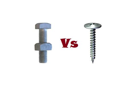 screws and bolts bolt vs difference between bolt and daily