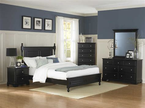 bed set furniture bedroom set black bukit