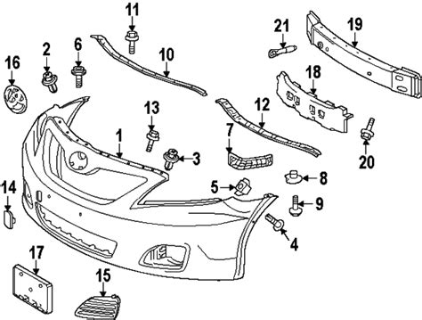 genuine oem hood components parts for 1993 toyota paseo painted toyota camry genuine factory oem front bumper cover