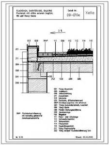 flachdach decken cad detail 09 010a flachdach mit attika extensiv begr 252 nt