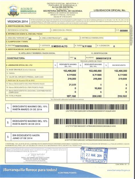 descargar formato predial formato pago impuesto predial formato declaracion valor