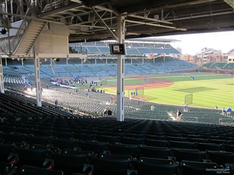 section 237 a 1 b wrigley field section 237 chicago cubs rateyourseats com