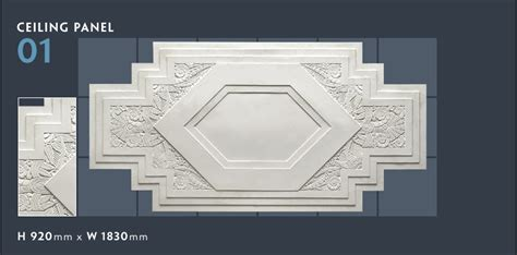 Pyramid Cornice Panels Plaster Products