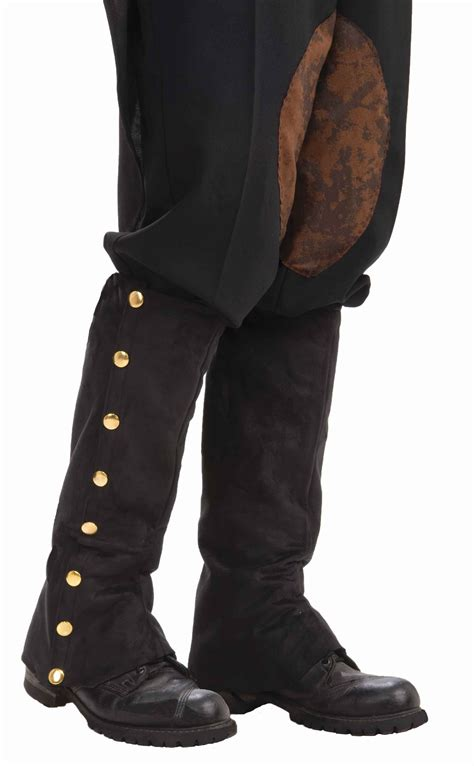 mens boot spats steunk suede spats mens 19 99 the costume land