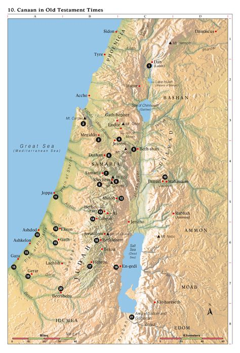 biblical map of israel bible maps