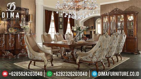 Meja Makan Ganesa Mebel Jepara Mebel Jati Free Ongkir Jawa mebel jepara terbaru set meja makan mewah ukiran klasik df 0255 dima furniture jepara