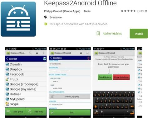 keepass android keepass android app