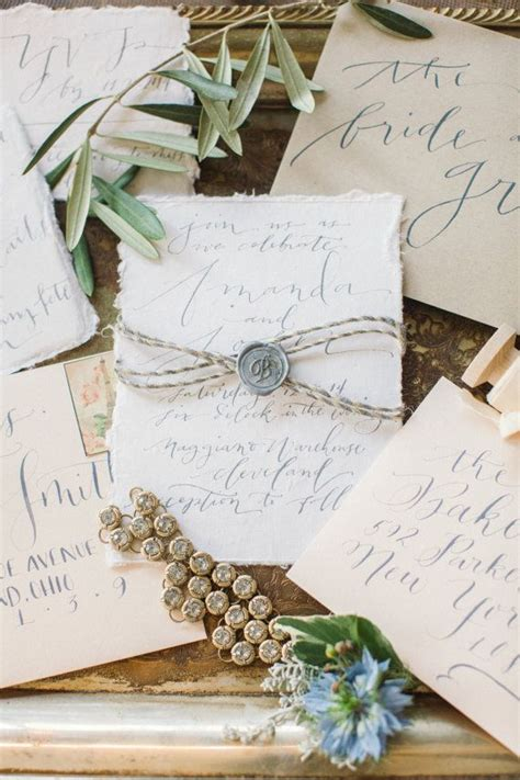 Handmade Paper Wedding Invitations - 17 best ideas about calligraphy wedding invitations on