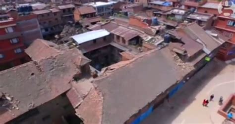 earthquake footage watch drone footage showing the devastating effects of
