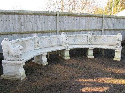 stone curved garden bench for sale reclaimed impressive curved stone garden bench