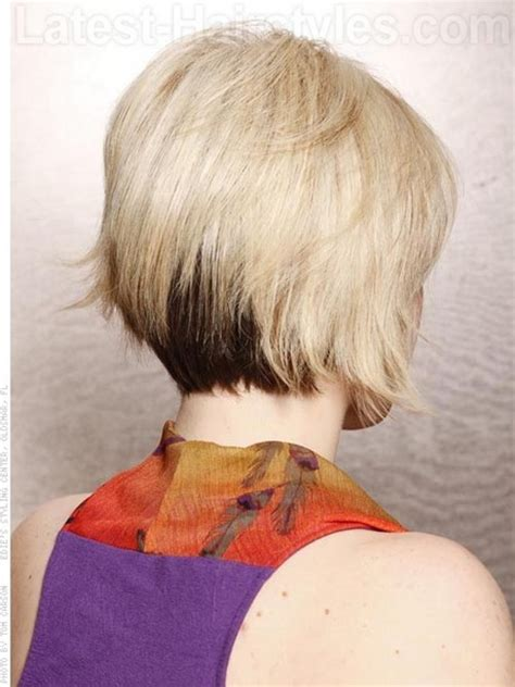 stacked bob hairstyles front back short haircuts front and back view