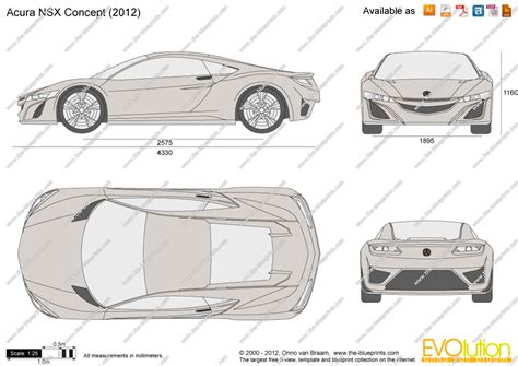 Draw To Scale Online Free the blueprints com vector drawing acura nsx concept