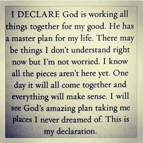 living together good for some not so much for others i declare god is working all things together for my good