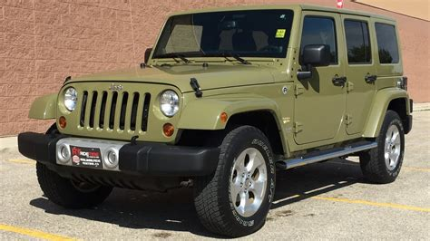 jeep wrangler green 2013 jeep wrangler unlimited 4wd commando green