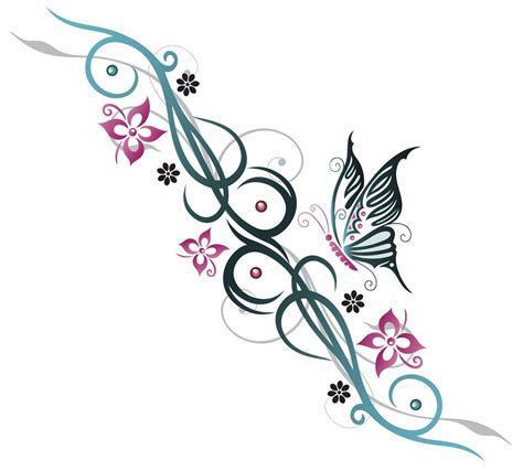 girly tribal tattoo gorgeous butterfly tattoos that look wonderful on the