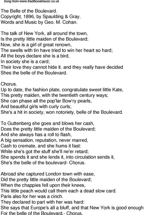 the song boulevard song