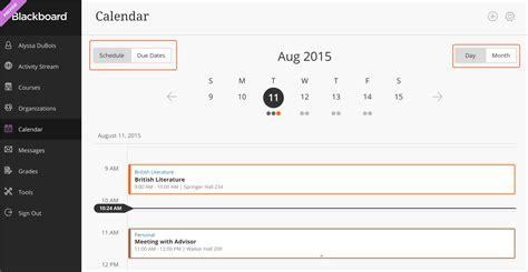 Calendar Help Calendar Blackboard Help