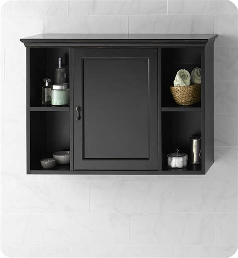 black bathroom wall cabinets ronbow 688225 b01 traditional bathroom wall cabinet in