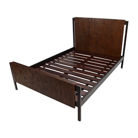 bed frame full 66 off crate and barrel crate and barrel madura full