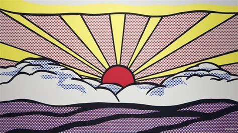 Roy lichtenstein artwork paintings pop art sunrise