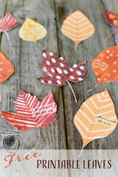 leaf place cards template the 25 best leaves template free printable ideas on