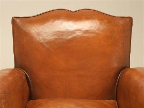 ottoman moustache french art deco moustache back leather club chairs with